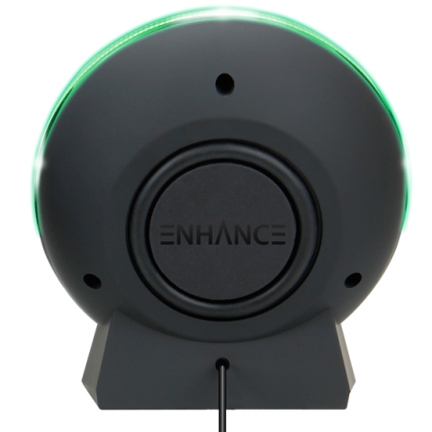 LED Gaming Speakers with In-Line Volume Control & Powerful 5W Drivers - Green