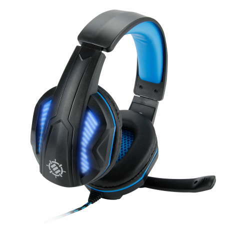 Computer Gaming Headset w/ Microphone by ENHANCE - 7.1 Surround Sound & LED - Black